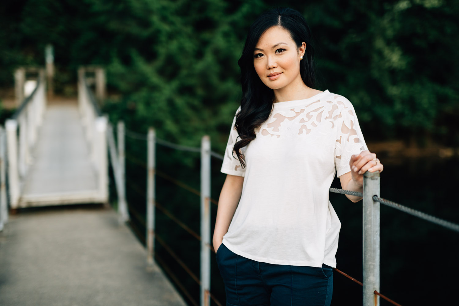 elaine kung portrait photography at sasamat lake in the summer during sunset