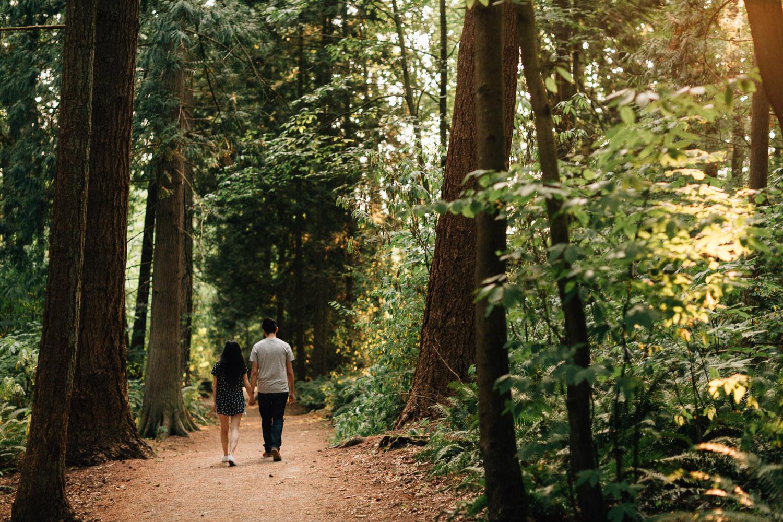 surrey engagement photography at redwood park near delta