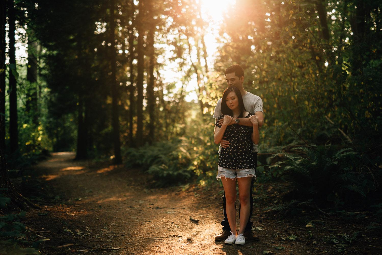 redwood park surrey engagement photographer
