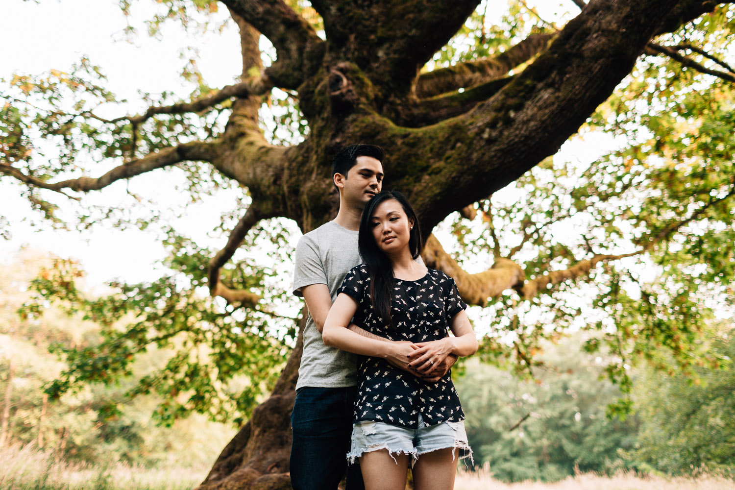 engagement photography at redwood park in surrey