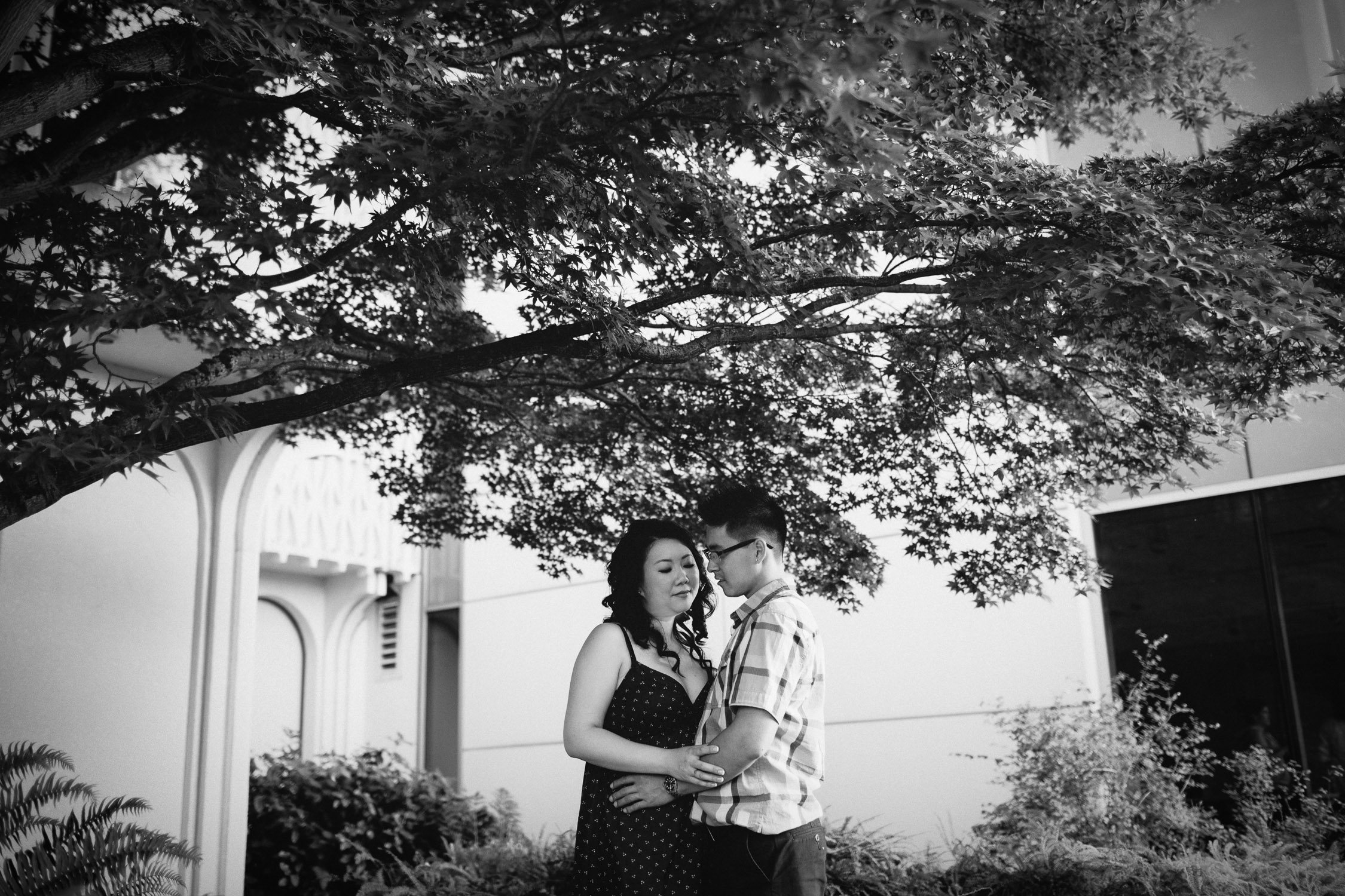 museum of vancouver engagement session sunset