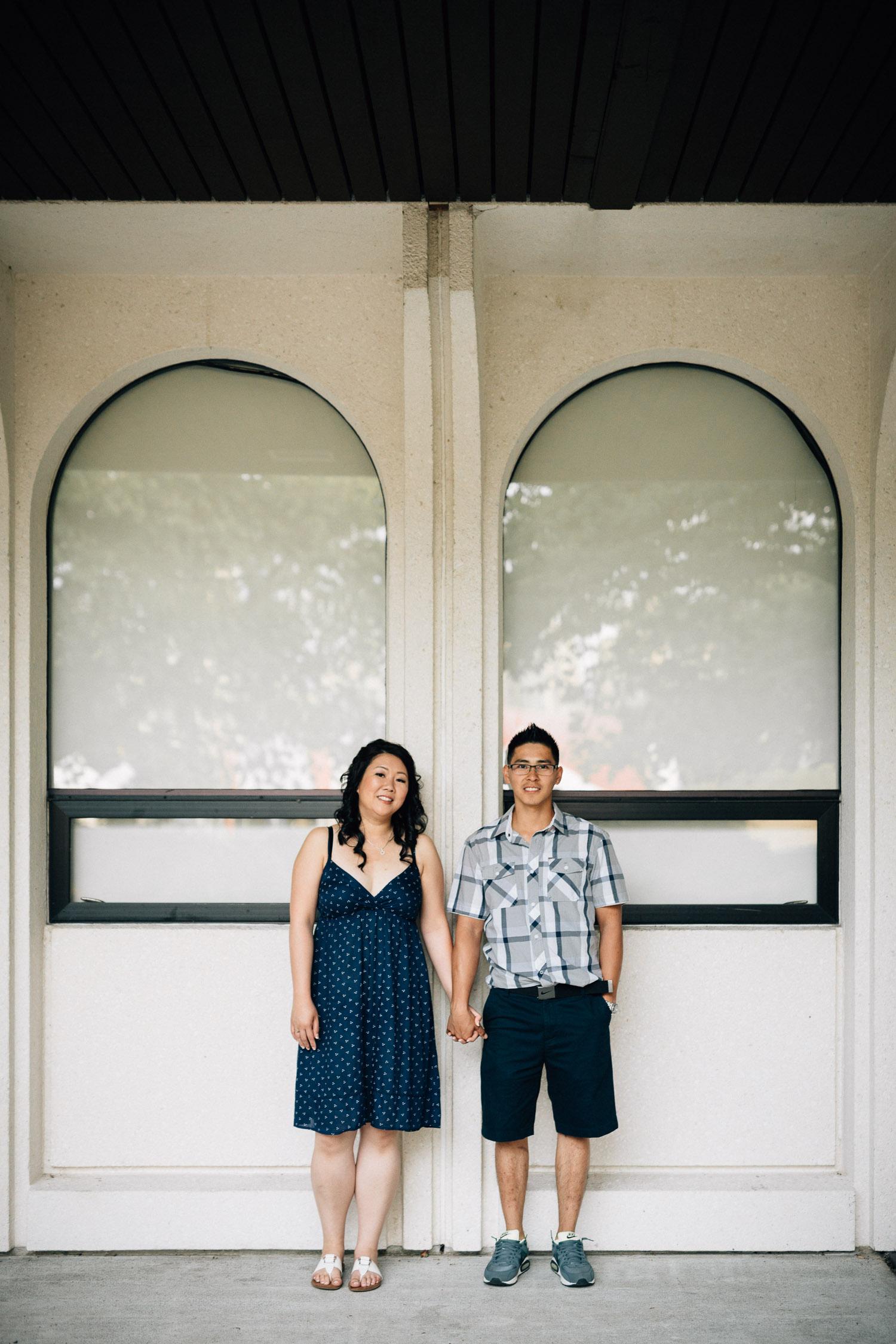 museum of vancouver engagement portrait