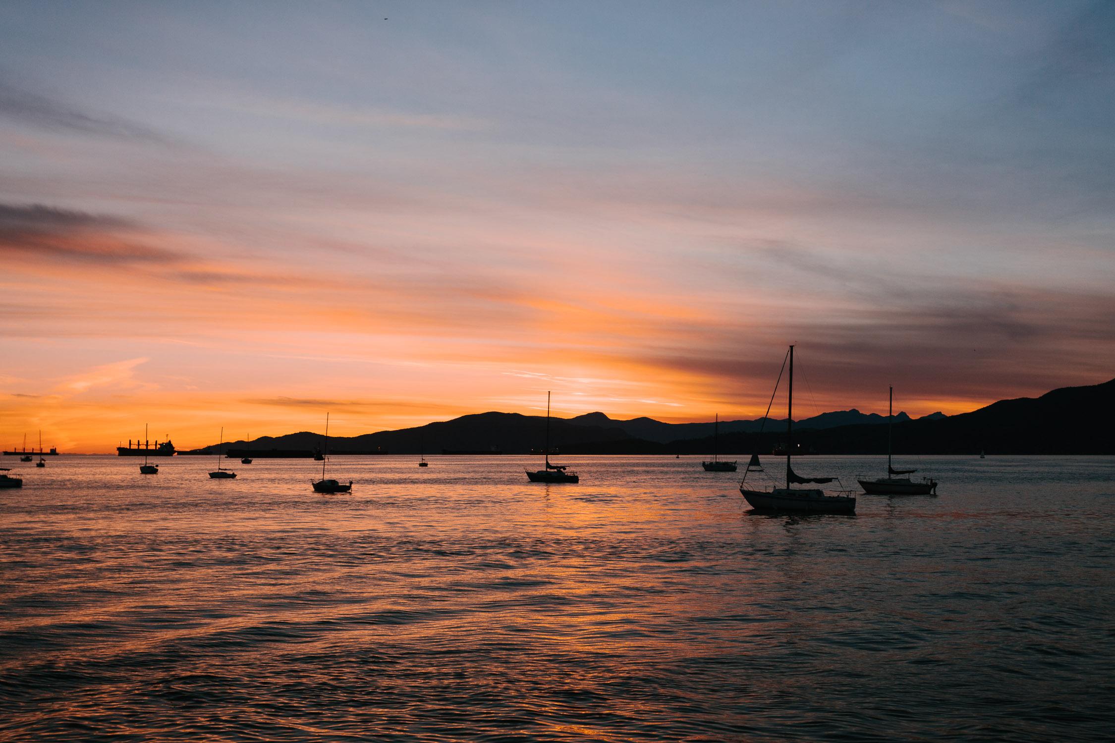 vancouver sunset photography vanier park