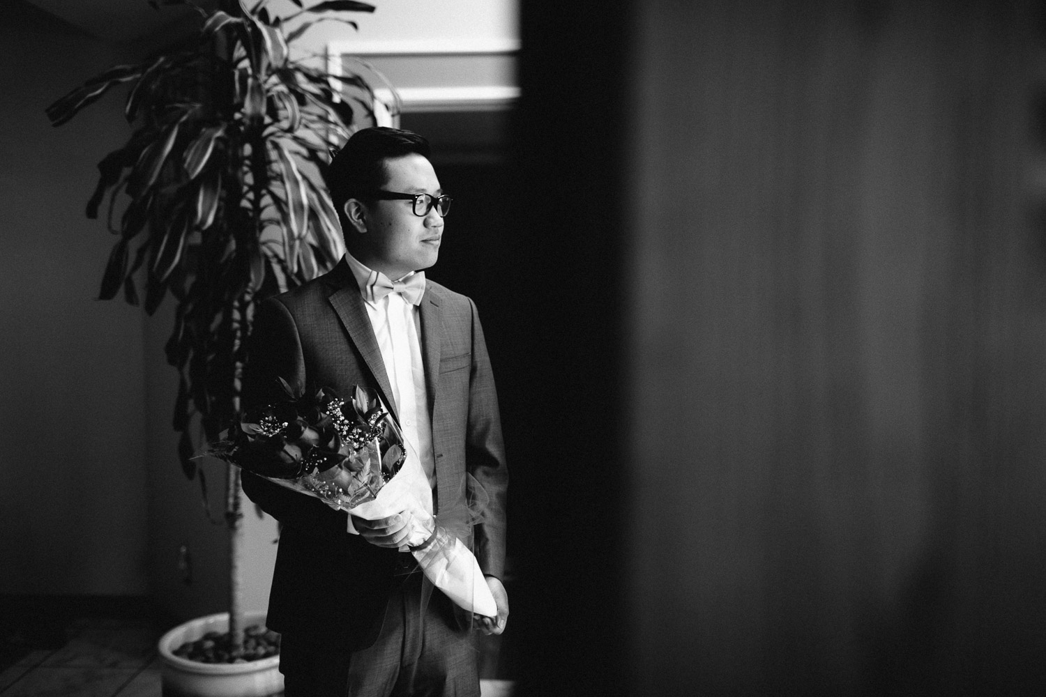 groomsman burnaby wedding photography black and white wedding