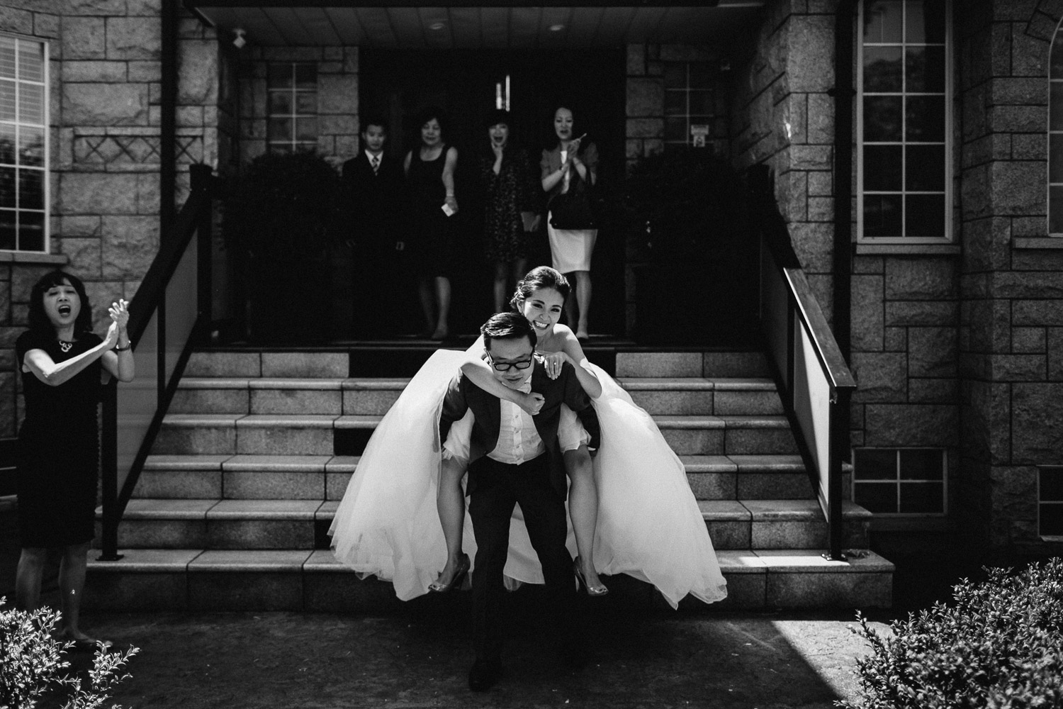 fun vancouver wedding photography black and white