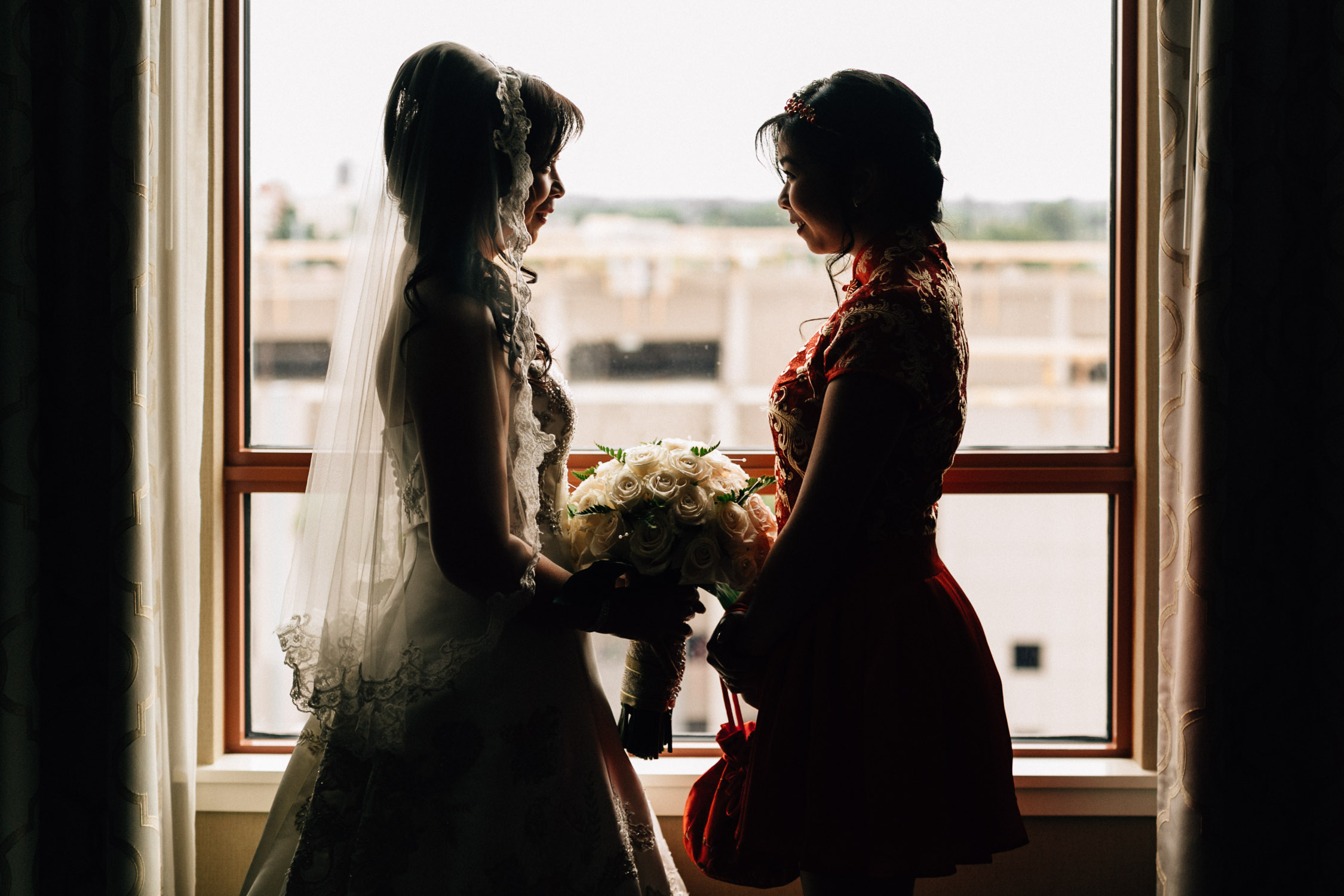bride and daughter at river rock casino hotel richmond wedding photographer