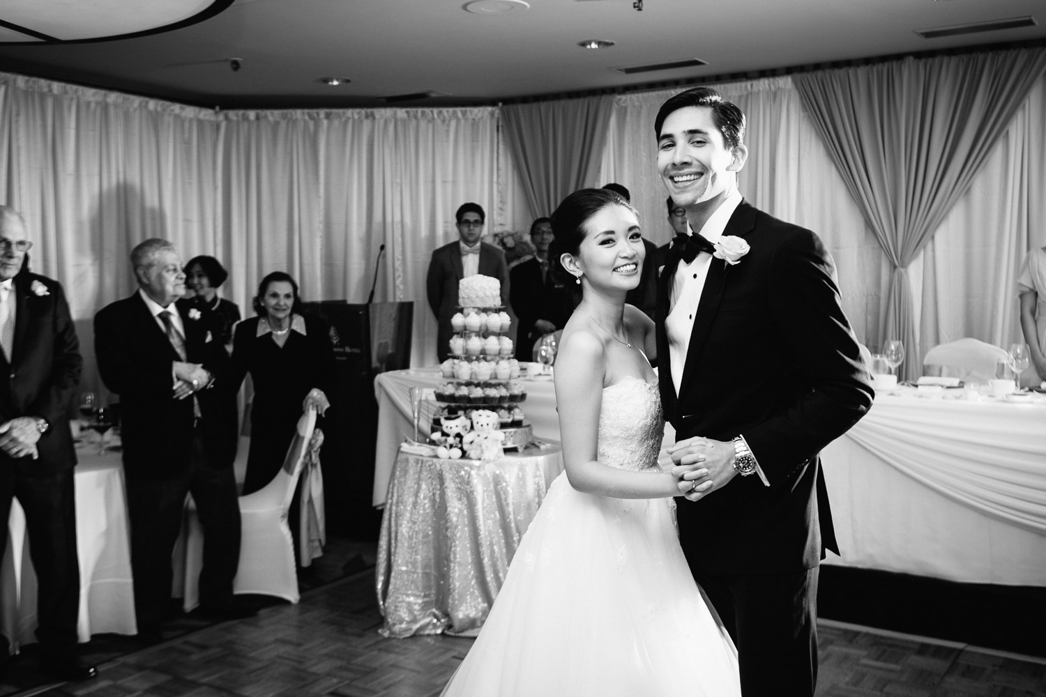 first dance four seasons hotel vancouver reception wedding photography