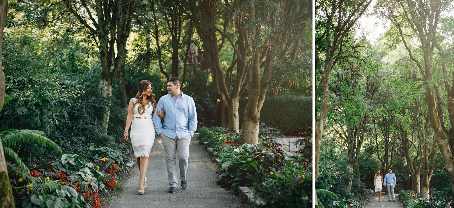 vandusen botanical garden engagement photography vancouver