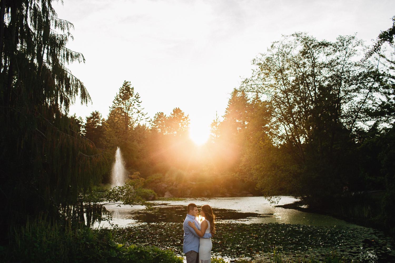 VanDusen Botanical Garden engagement photography in Vancouver