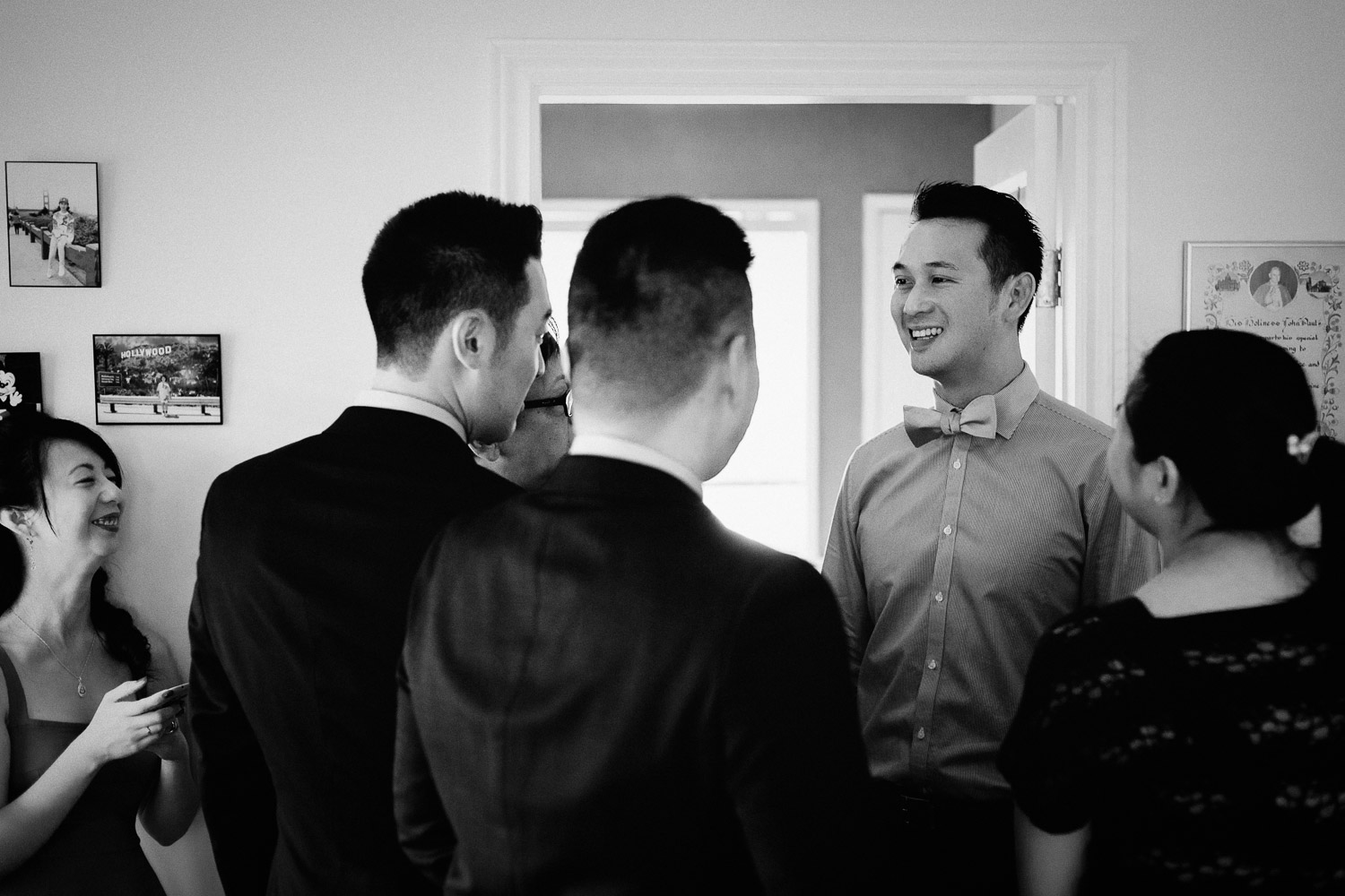 groom getting ready in vancouver wedding photographer
