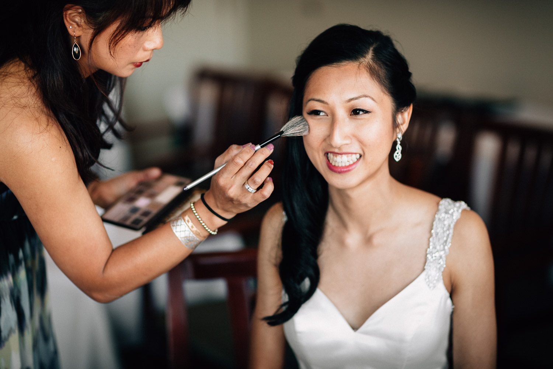 bride getting ready makeup richmond wedding photographer