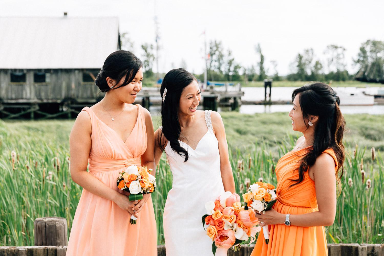 britannia heritage shipyard richmond bride and bridesmaids