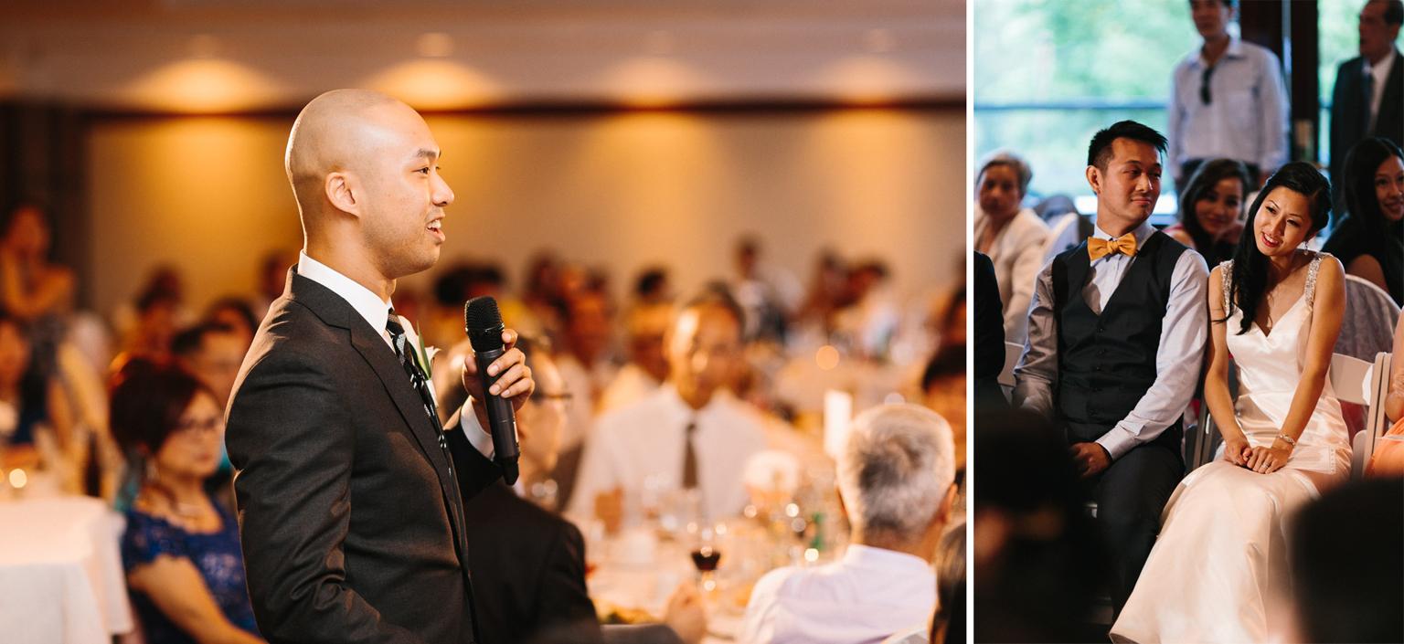 quilchena richmond wedding photographer speeches
