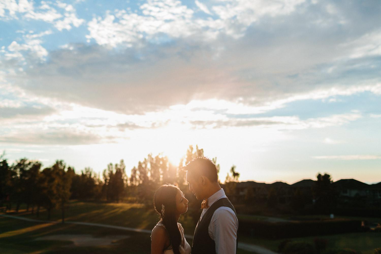 quilchena golf course sunset wedding