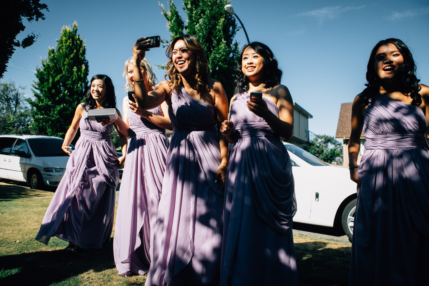 bridesmaids chinese door games vancouver wedding photographer
