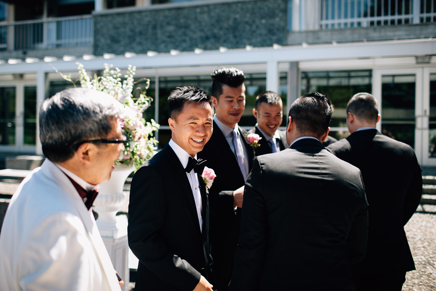 ubc groom wedding ceremony sage bistro