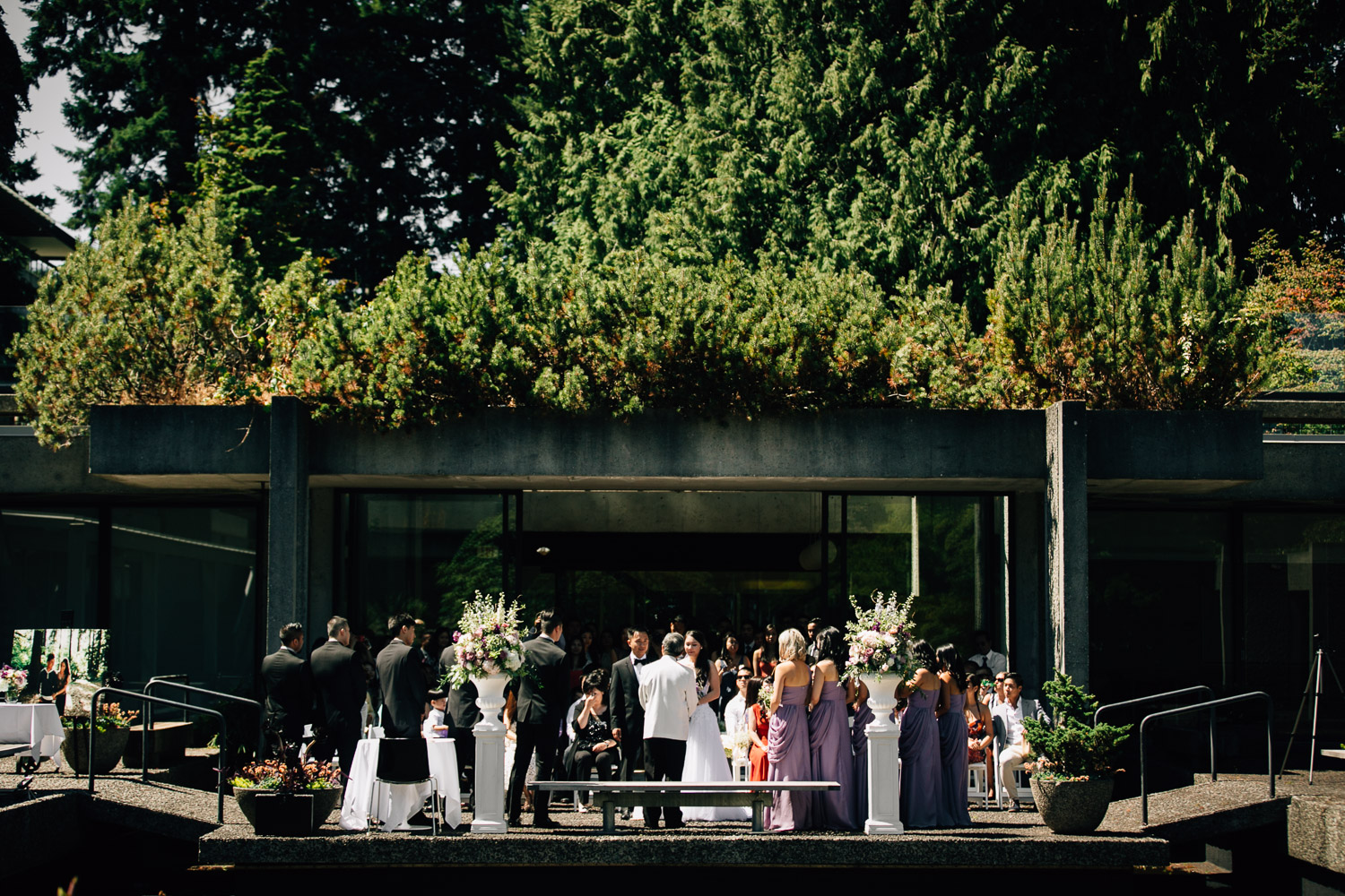ubc wedding photography at sage bistro during summer
