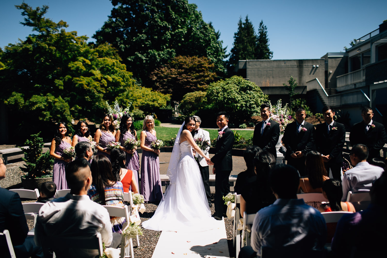 ubc wedding at sage bistro ceremony photographer
