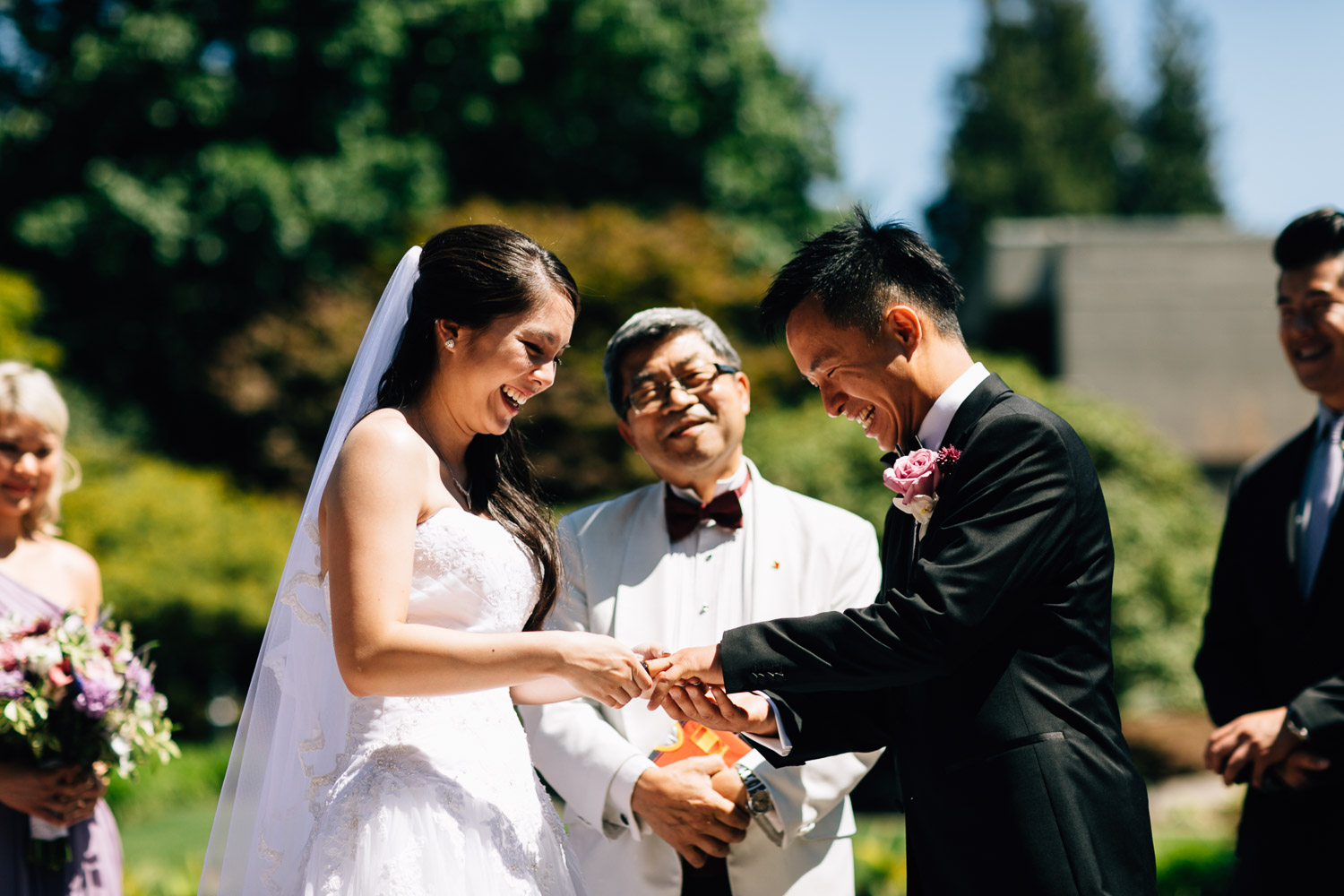 ubc sage bistro ring exchange wedding photography during summer