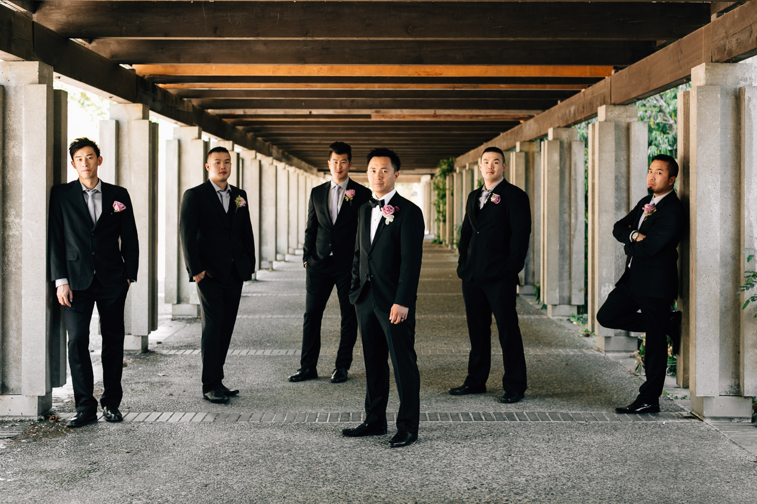 groom and groomsmen ubc wedding vancouver photographer