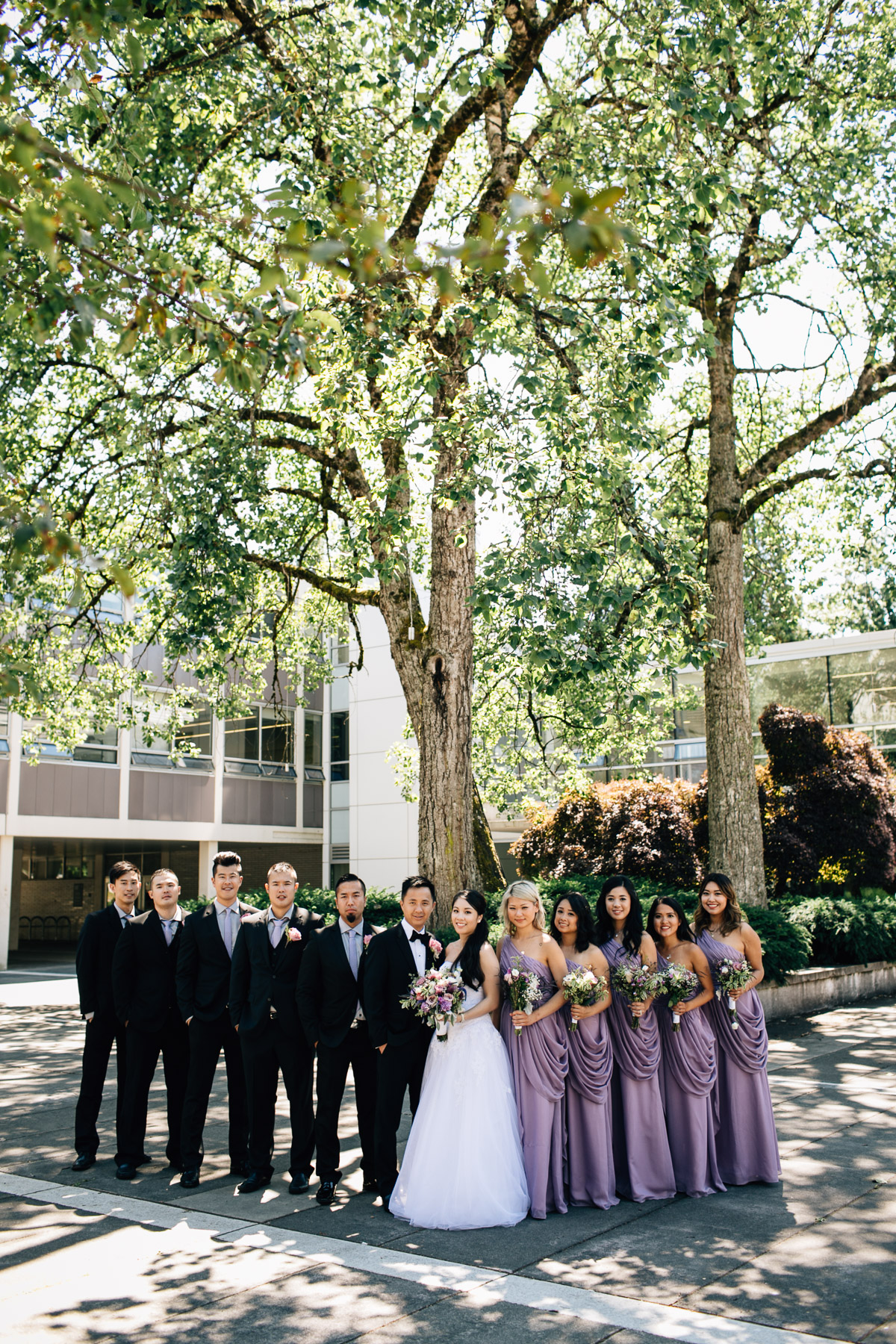 bridal party ubc wedding photography