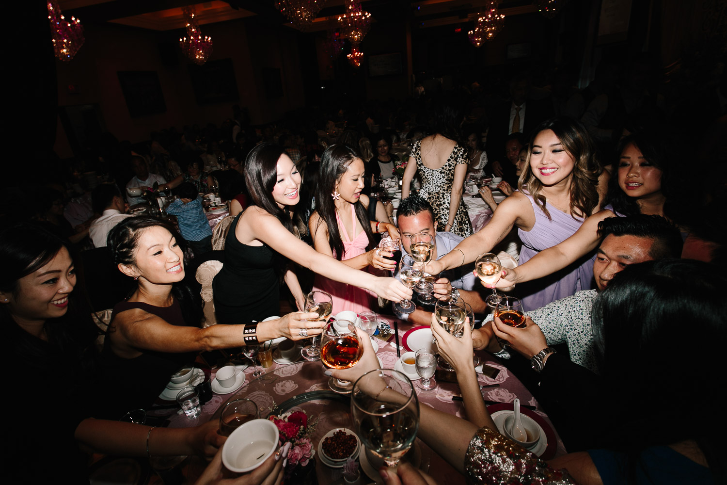 table toasting chinese wedding reception photography shiang garden