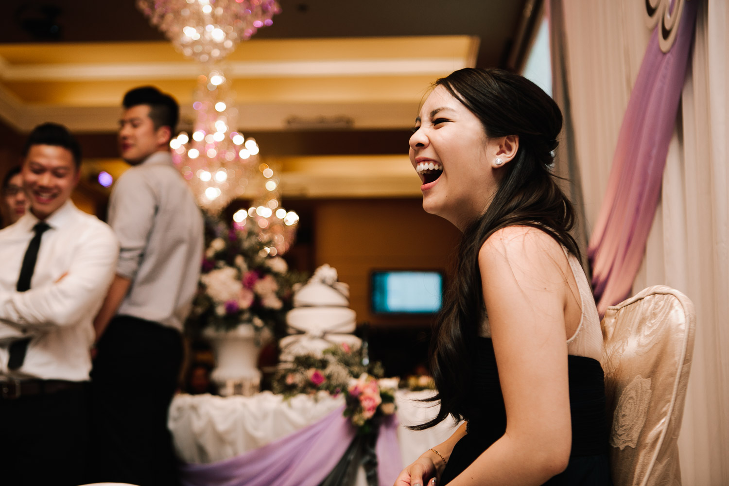 richmond wedding photography reception bride reaction