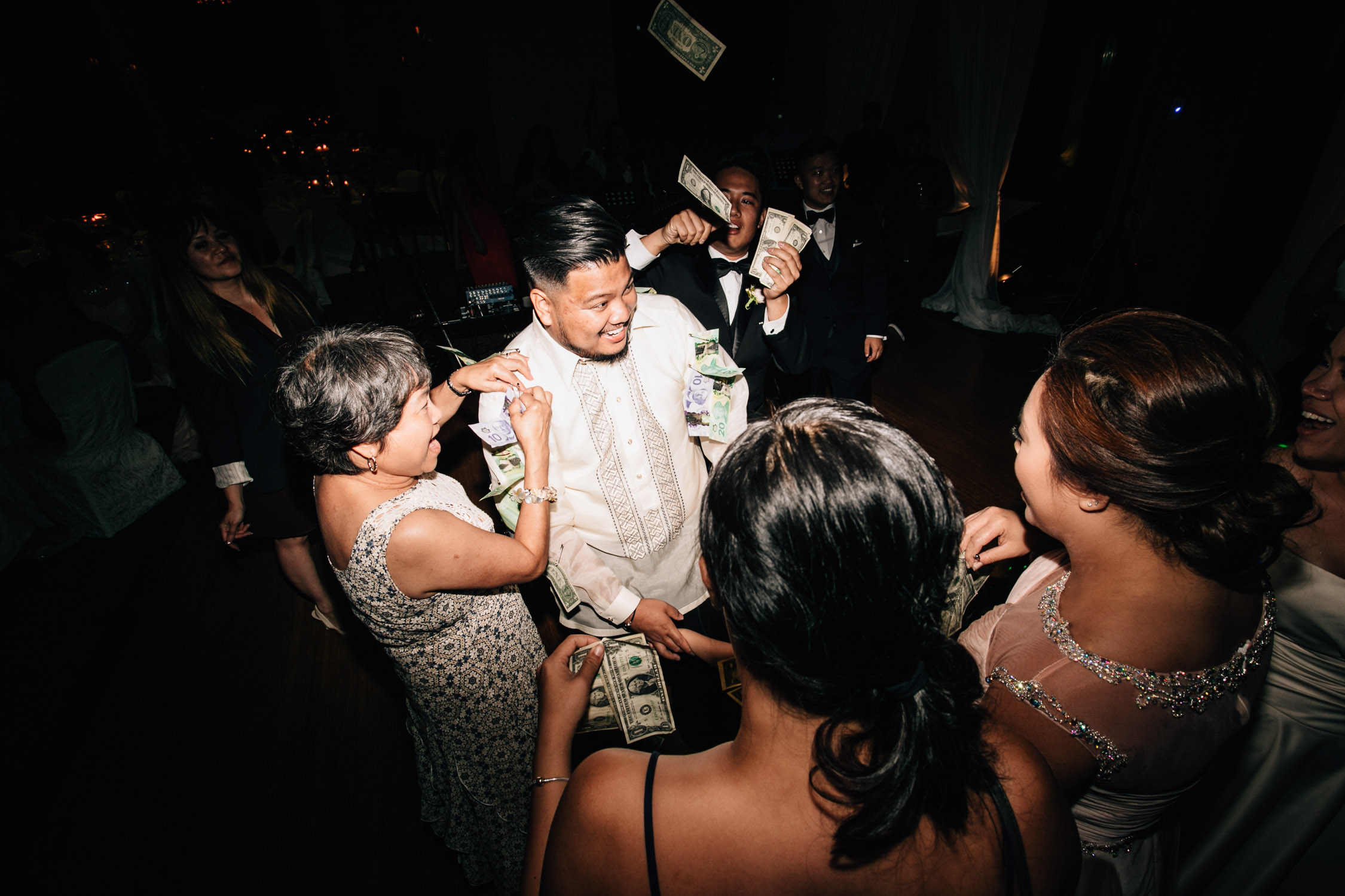 swaneset reception wedding vietnamese filipino money dance