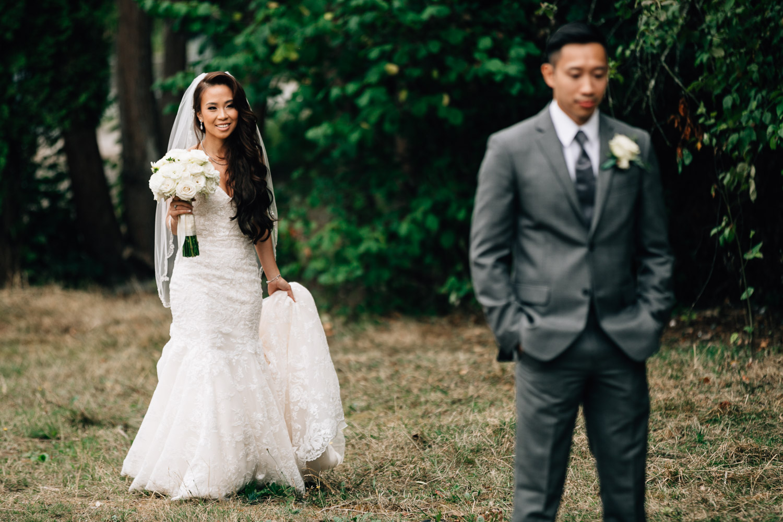 first look surrey wedding photographer vietnamese