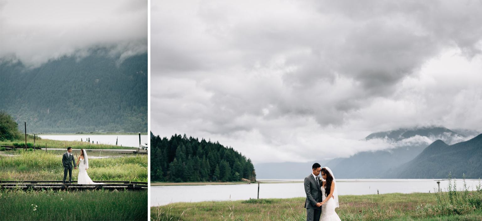 Pitt Lake wedding photographer portrait vsco