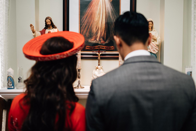 mission wedding photographer vietnamese catholic door games
