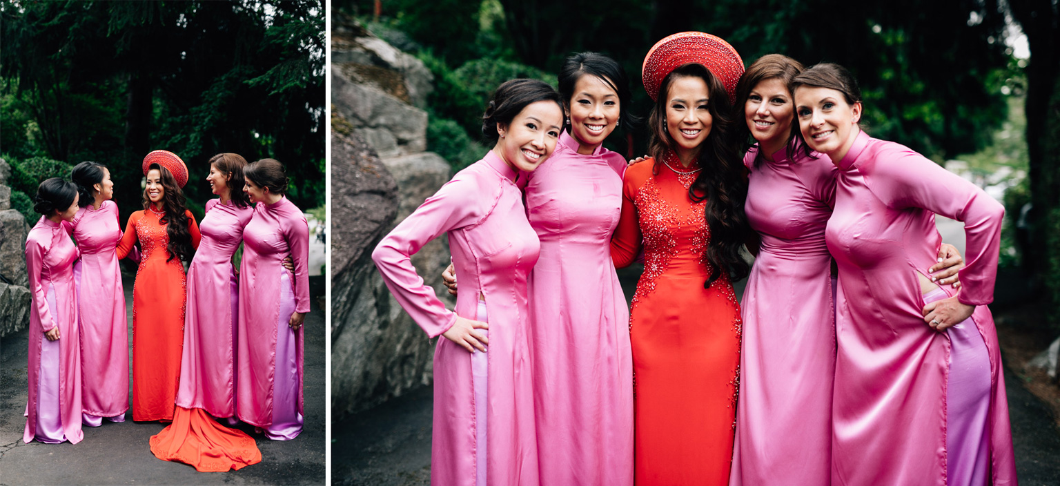 Mission wedding photographer bride and bridesmaids