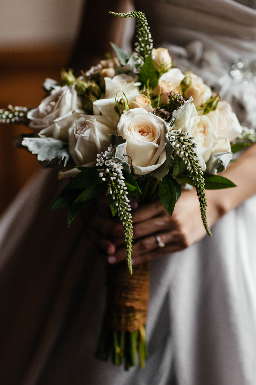 custom floral arrangement vancouver wedding photography at brockhouse restaurant