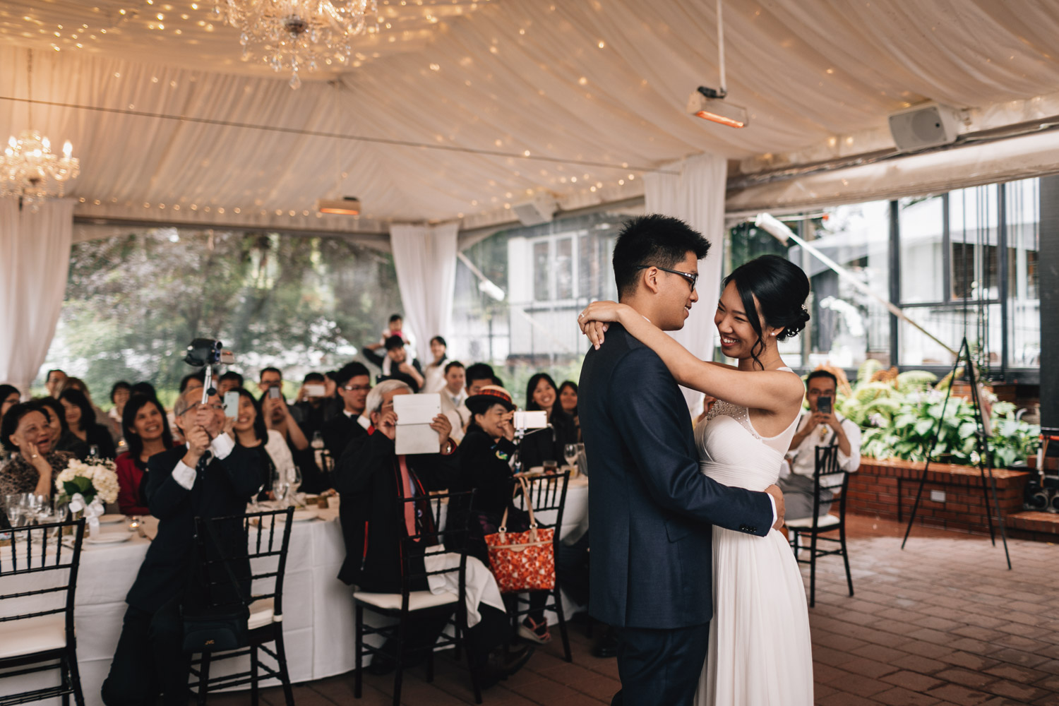 brockhouse restaurant first dance wedding photography in vancouver bc