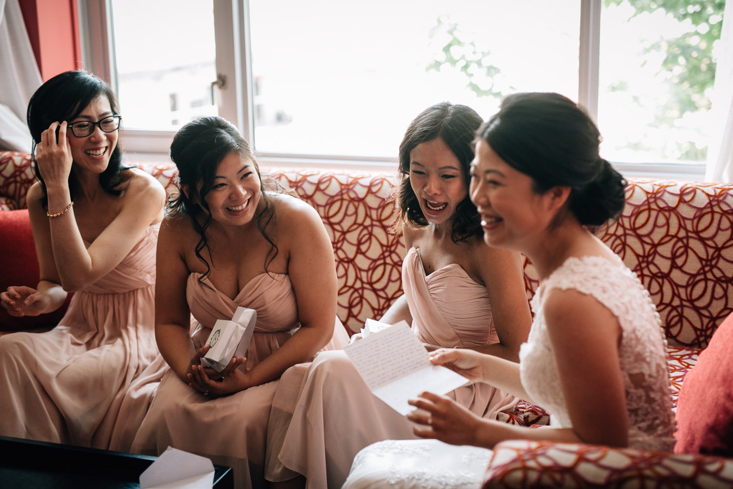 bridesmaids in opus hotel vancouver bc hotel wedding