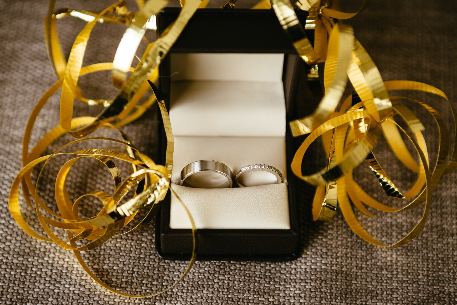 wedding rings yellow theme wedding vancouver bc