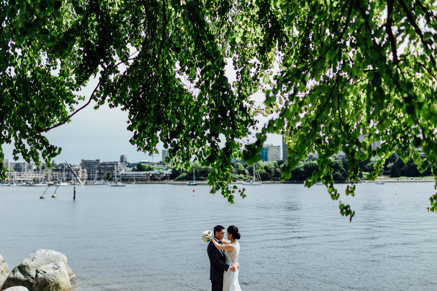 wedding portraits bride and groom in yaletown roundhouse vancouver bc photography