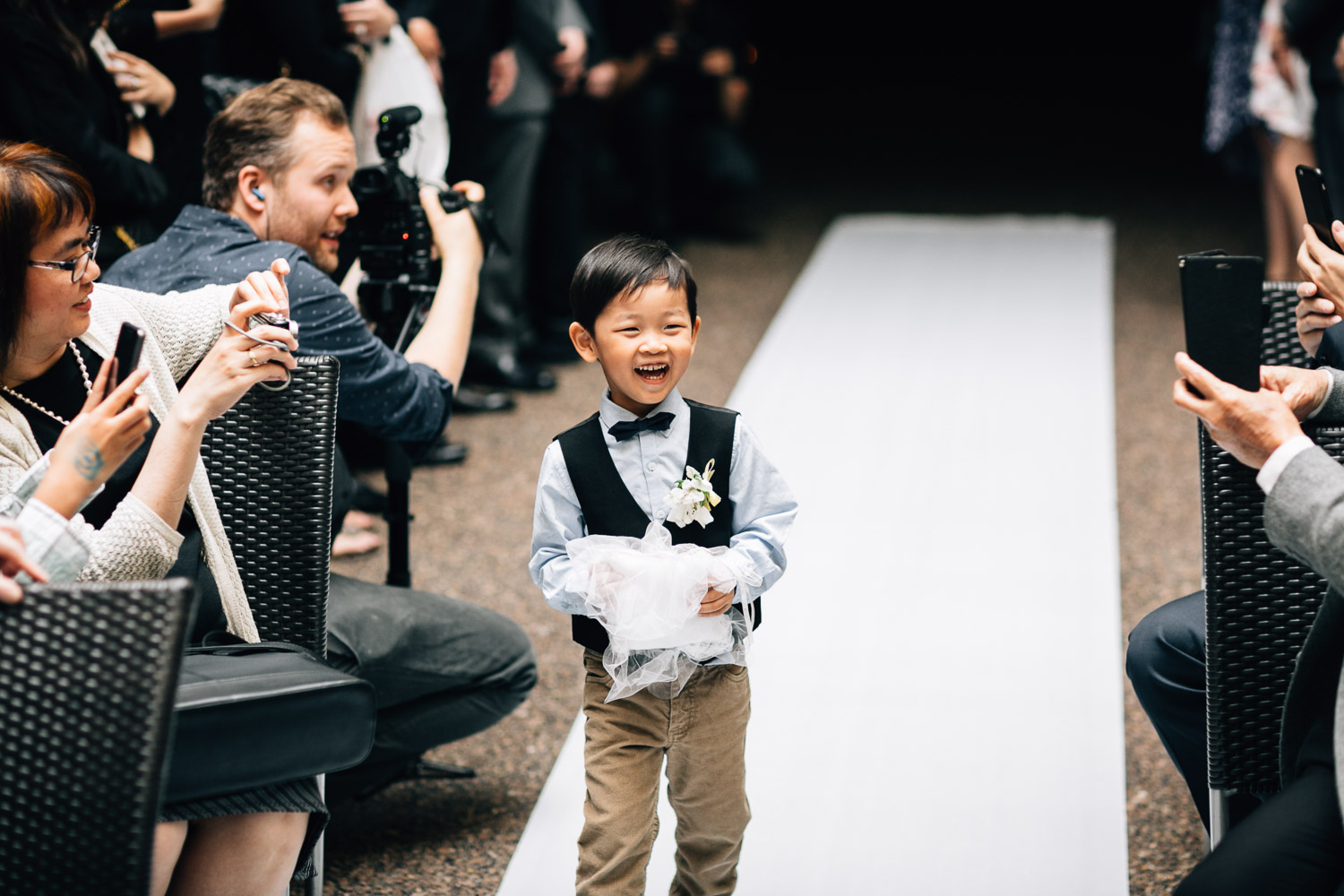 vancouver wedding photography brix and mortar yaletown ring bearer