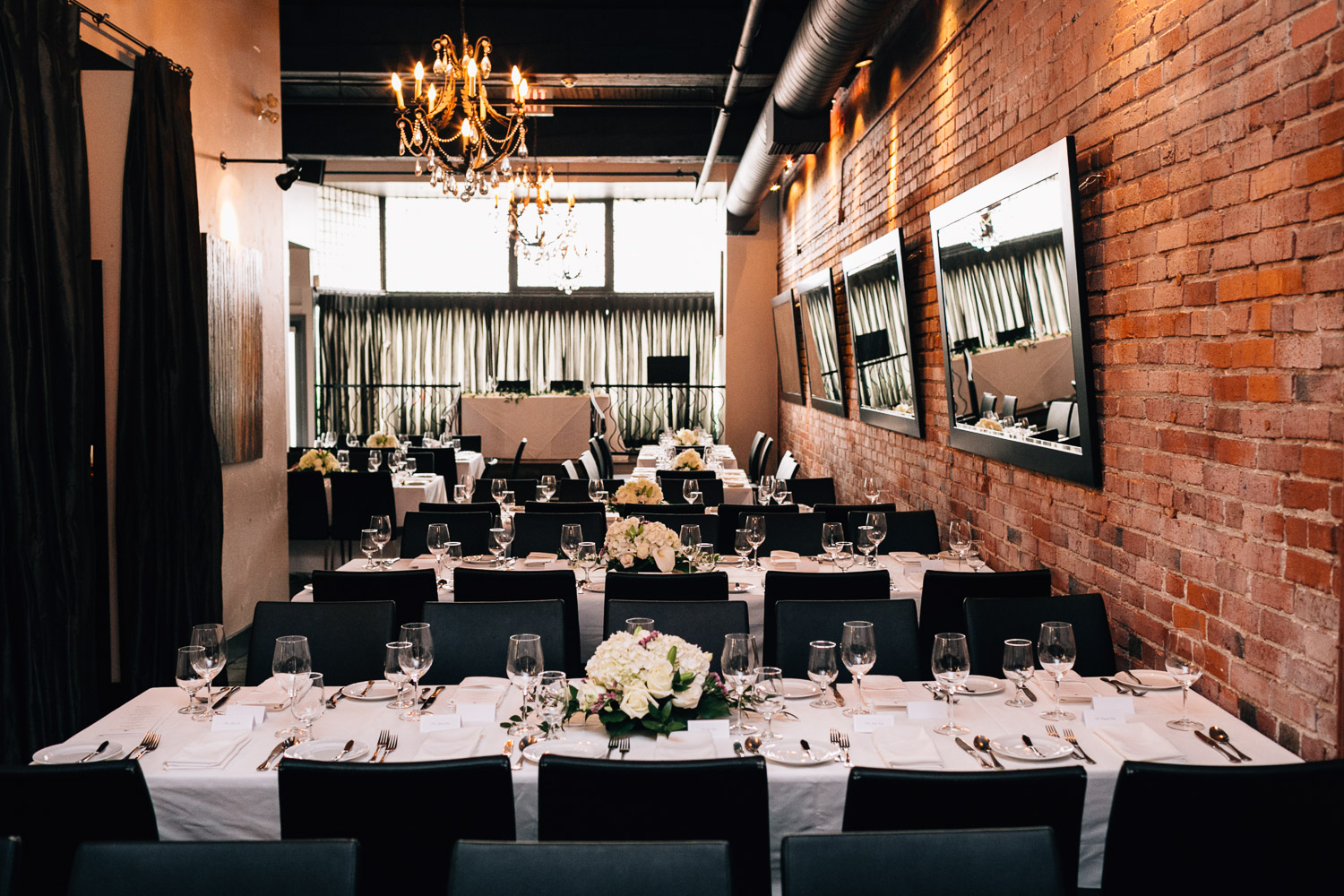 brix and mortar wedding reception in yaletown vancouver bc