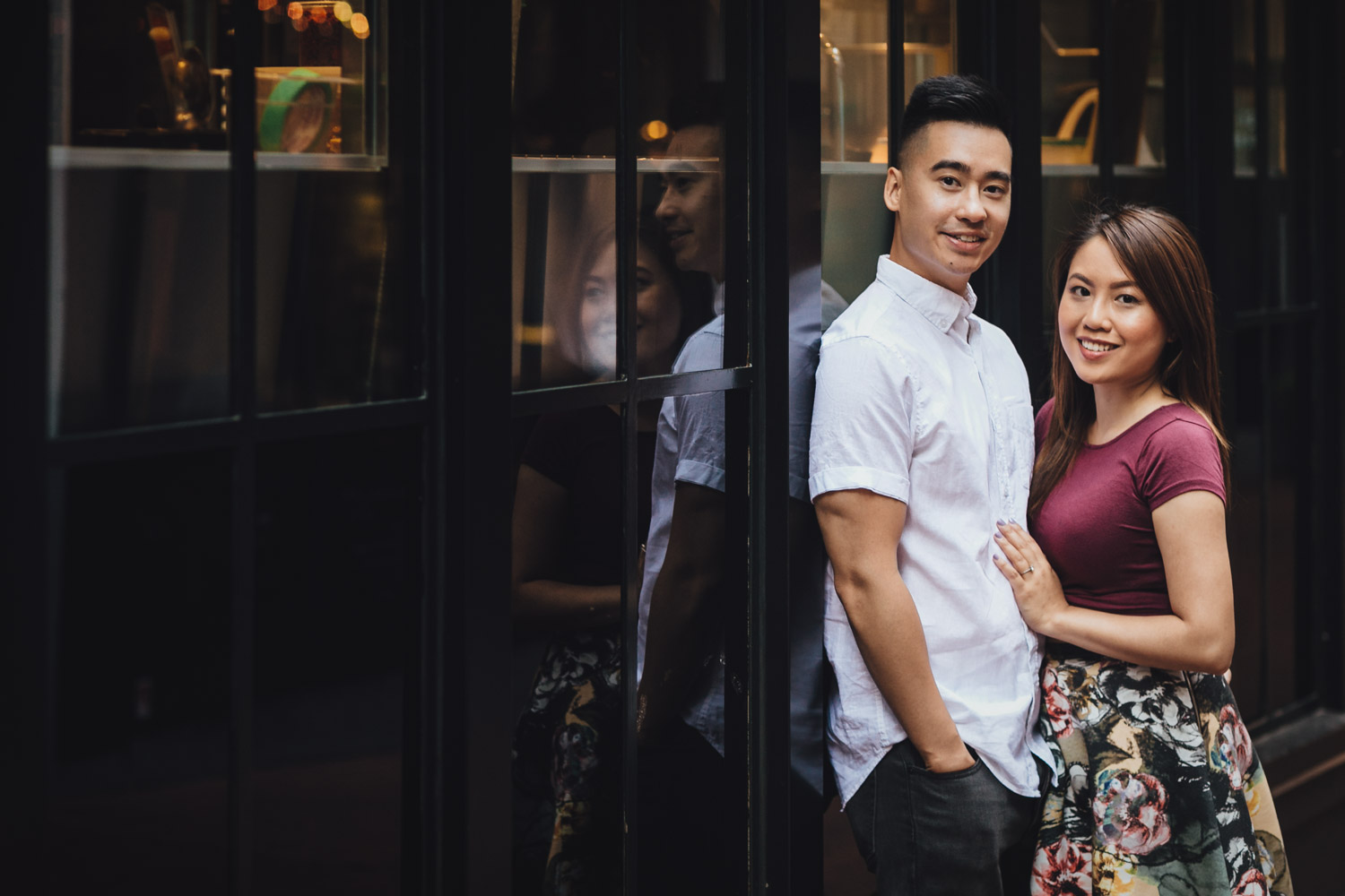 gastown engagement photography in vancouver bc during summer
