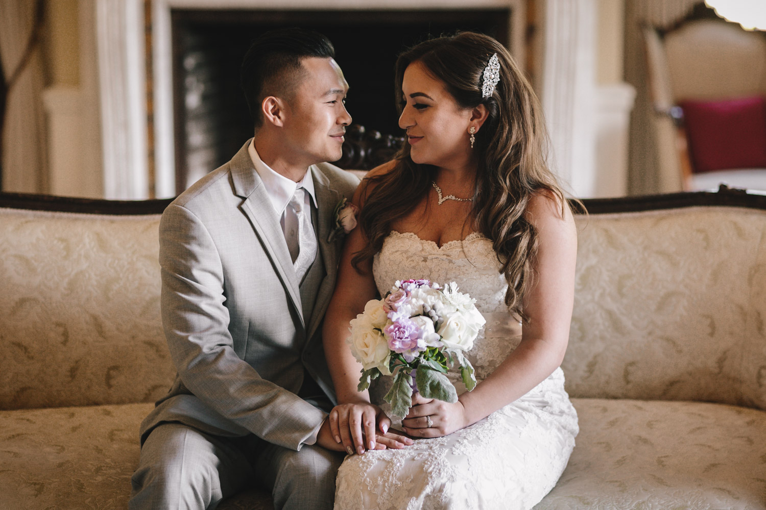 bride and groom at hycroft in vancouver bc wedding photography