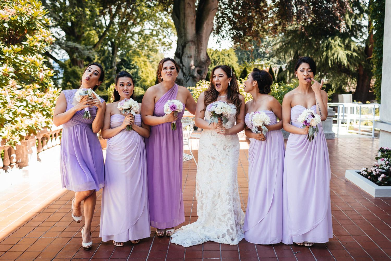 vancouver wedding bridesmaids at hycroft fun and candid
