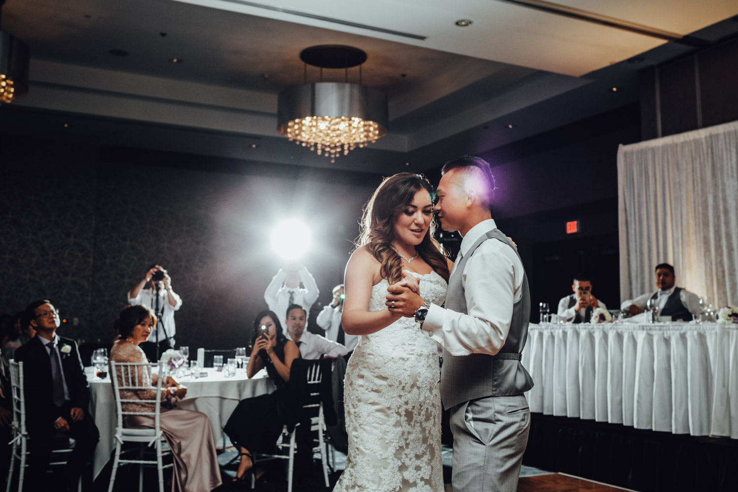 north vancouver wedding photography first dance reception