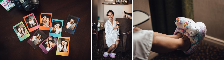 instax Polaroid camera bride and bridesmaids vancouver wedding photography