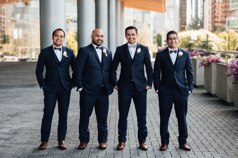 groom and groomsmen vancouver wedding photography portrait