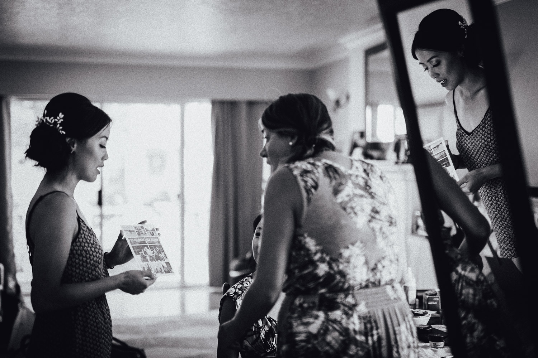 vancouver wedding photography bridesmaids vsco black and white