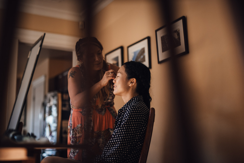 bridesmaids makeup vancouver wedding photography