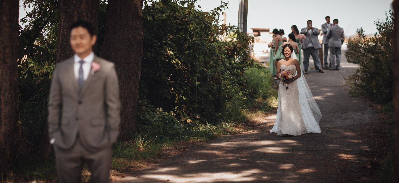 wedding first look terra nova richmond bc photography
