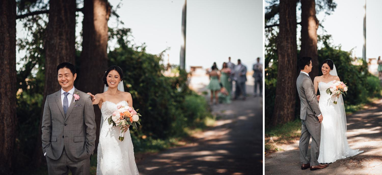 wedding first look in richmond at terra nova park bc photography