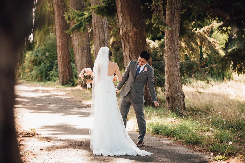 first look richmond bc wedding photography at terra nova